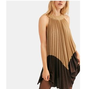 NWT Free People Pleated Love Mini Dress Size S